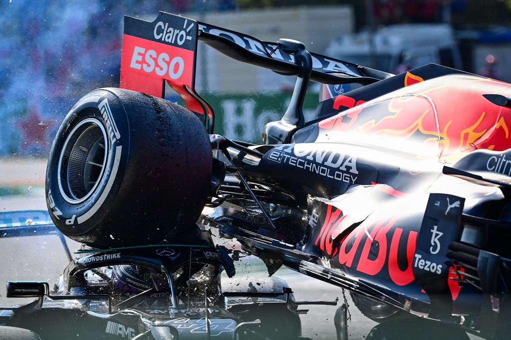 Acidente entre Hamilton e Verstappen no GP de Monza