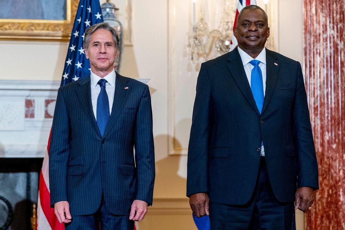 Secretário de Estado dos EUA, Antony Blinken e o Ministro da defesa da Austrália, Peter Dutton