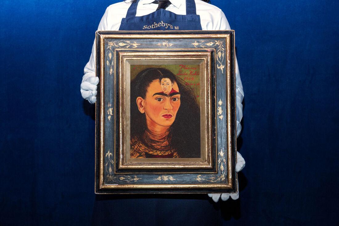 Autorretrato de Frida Kahlo intitulado 'Diego y yo'