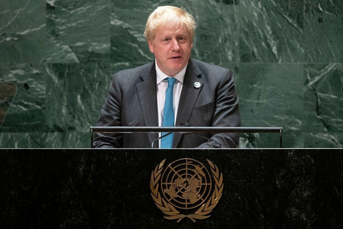 Primeiro-ministro britânico Boris Johnson