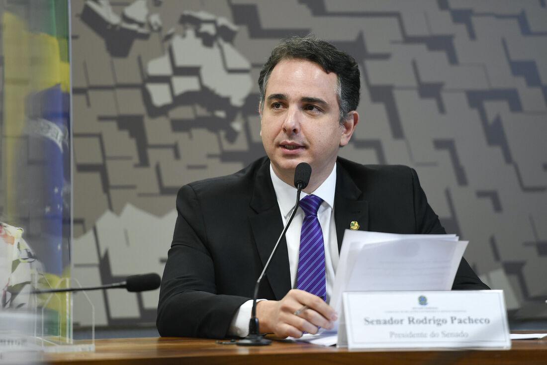 O presidente do Senado Federal, senador Rodrigo Pacheco (DEM-MG)