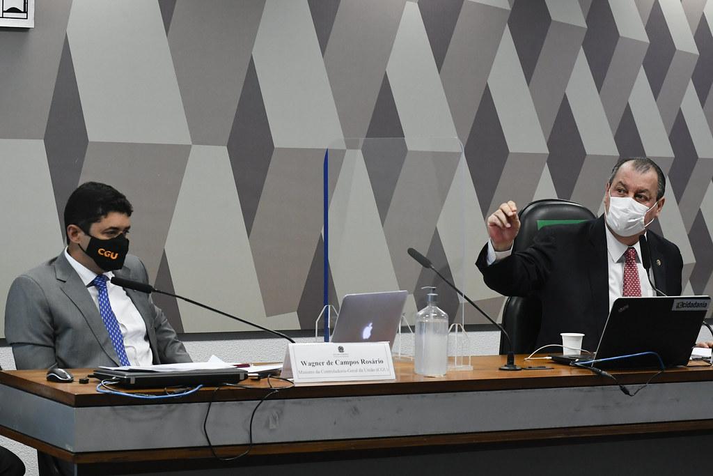 CPI da Pandemia ouve o ministro da CGU, Wagner Rosário