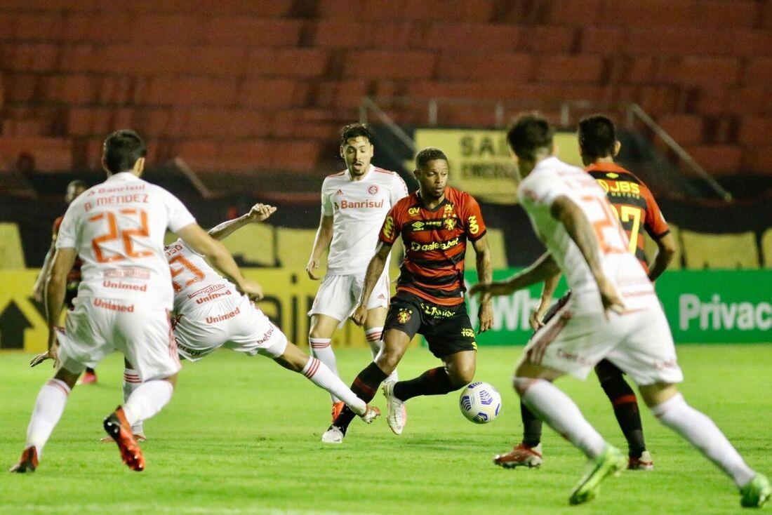 André em ação contra o Inter