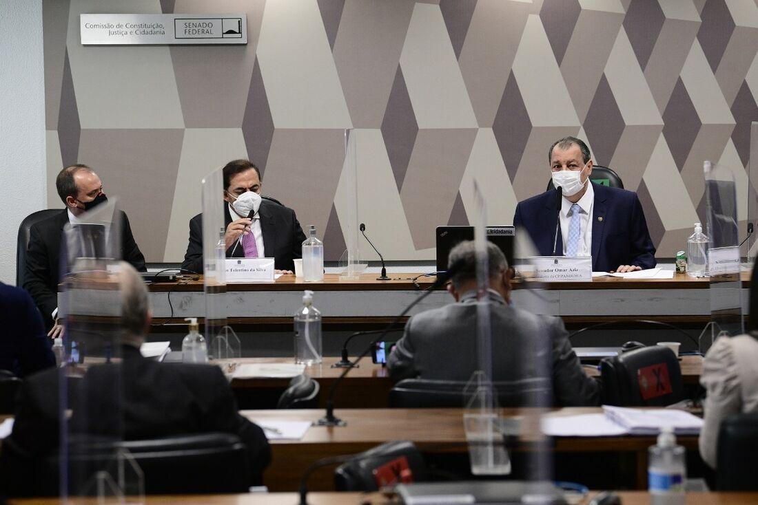 Marcos Tolentino em depoimento à CPI da Pandemia