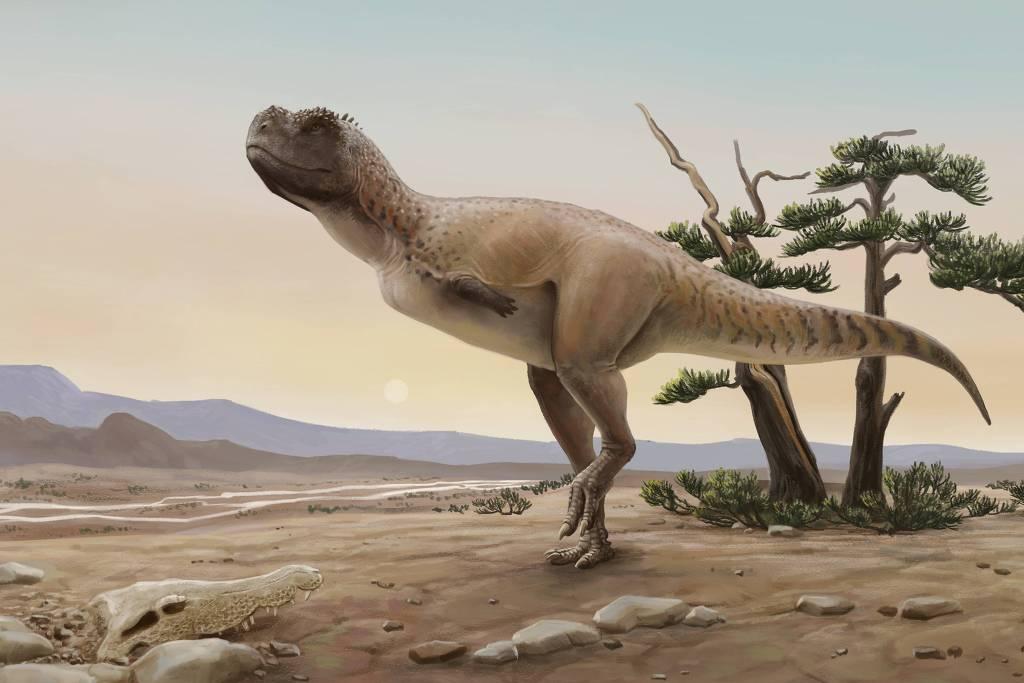 Reconstrução do novo dinossauro carnívoro brasileiro, Kurupi itaata