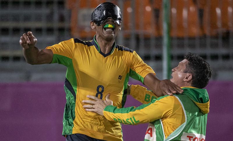 Raimundo Nonato foi o autor do gol do Brasil na final da Paralimpíada de Tóquio