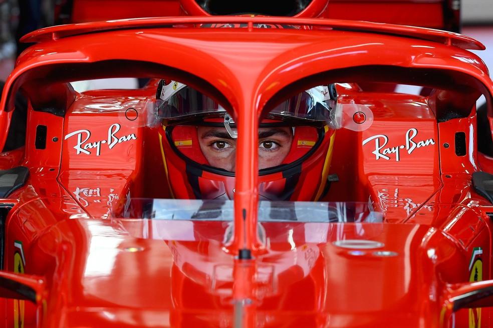 Carlos Sainz, piloto da Ferrari