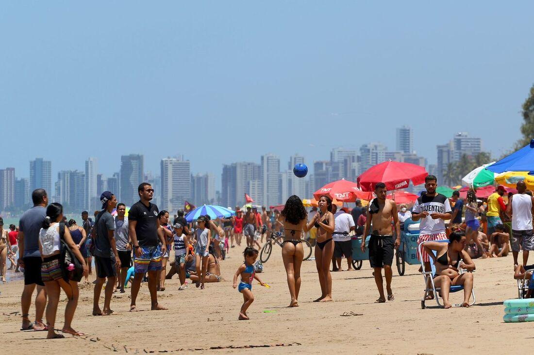 Praia de Boa Viagem neste domingo