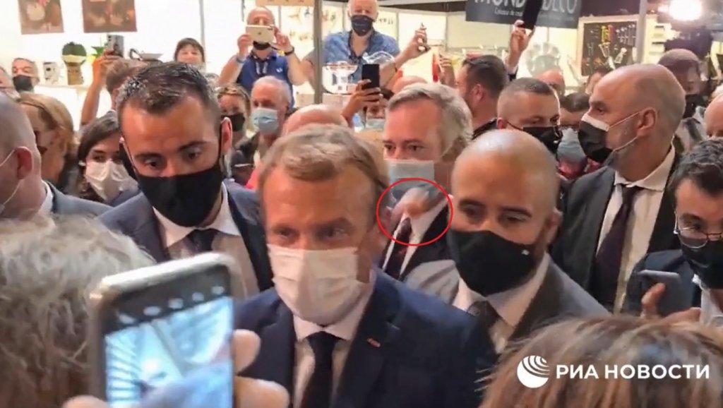 Macron em evento na França