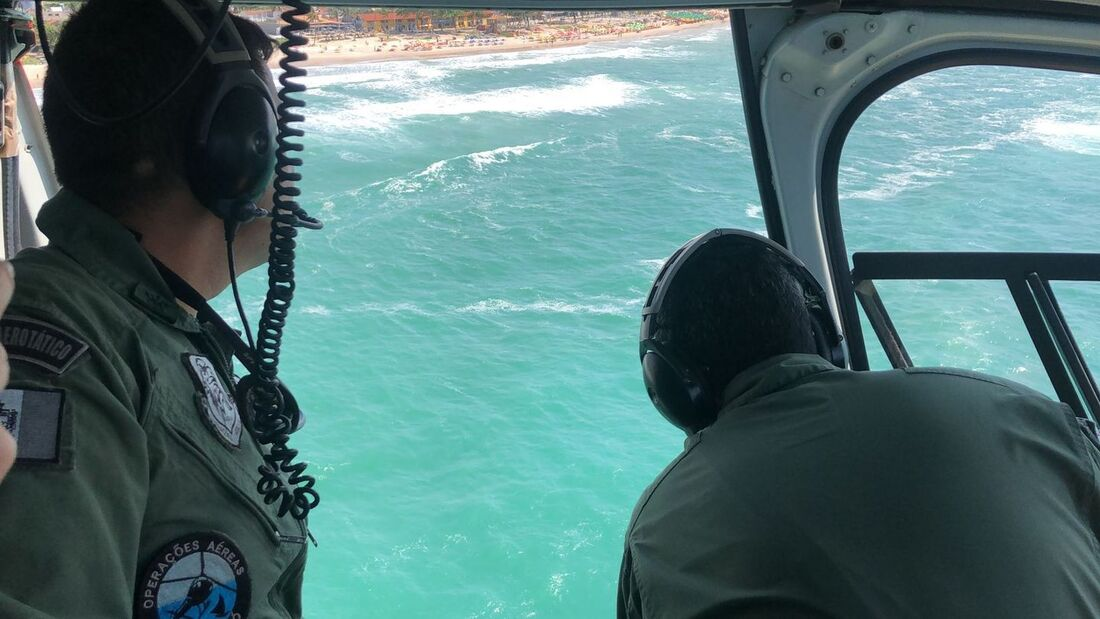 Aeronaves dos Bombeiros foram usadas nas buscas