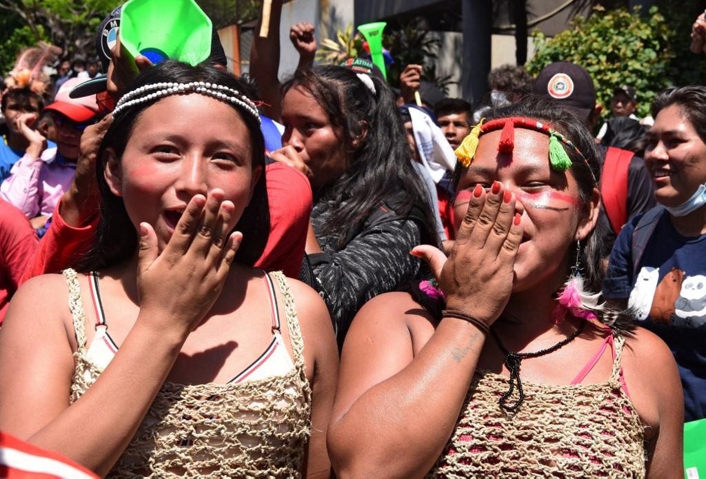 Protesto indígena no Paraguai