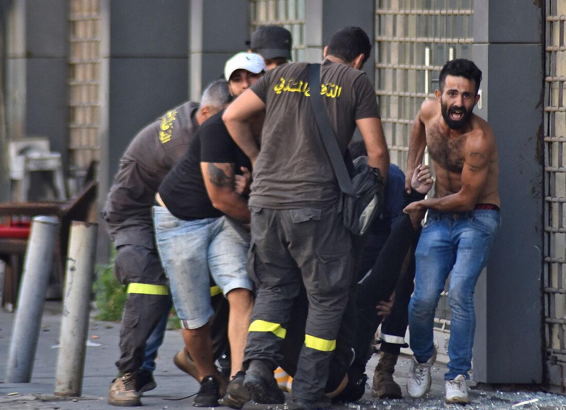 Mortos e feridos em protesto no Líbano
