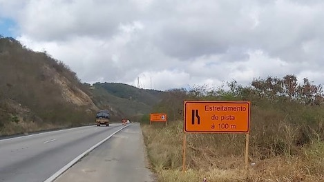 Obras no viaduto da Serra das Russas