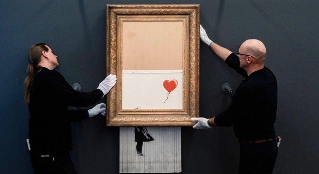 """O quadro """"Menina com Balão"""" de Banksy"""