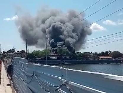 Incêndio no Mercado de Artesanato de Itapissuma