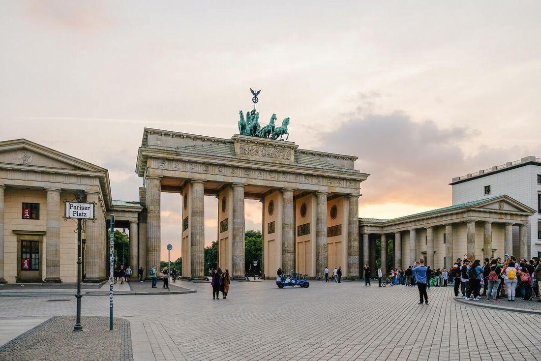 Portão de Brandenburgo em Berlin