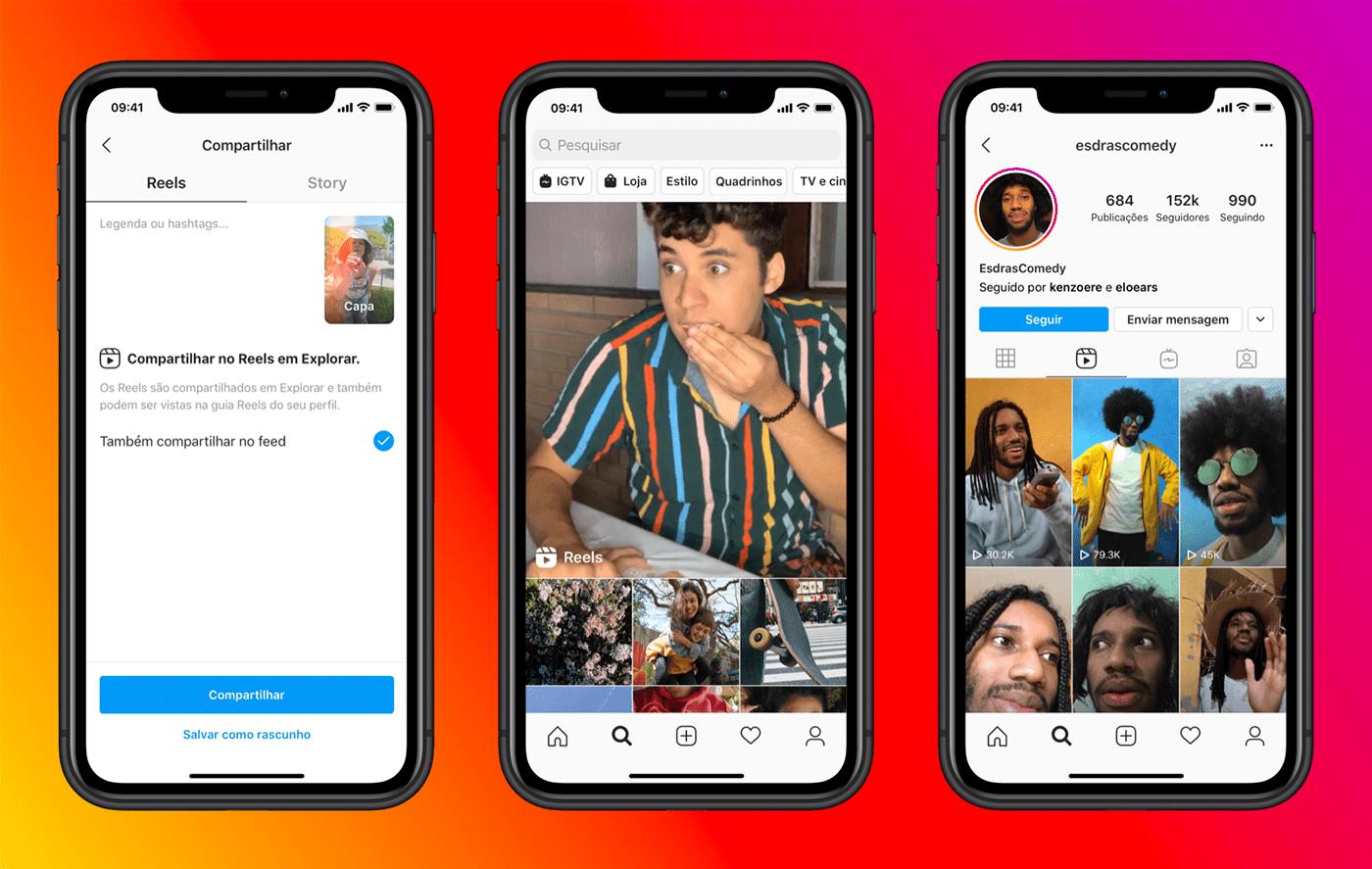 Reels, novo recurso do Instagram