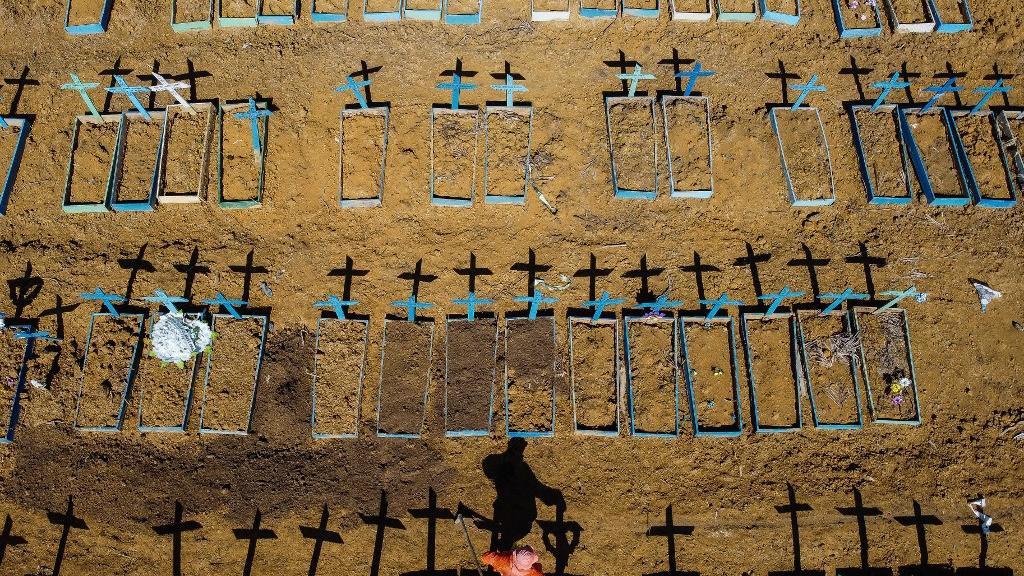 Brasil registra mais de 65 mil mortes por COVID-19
