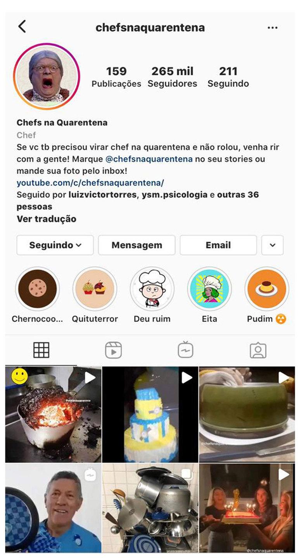 Chefs na Quarentena viralizou com desastres culinários