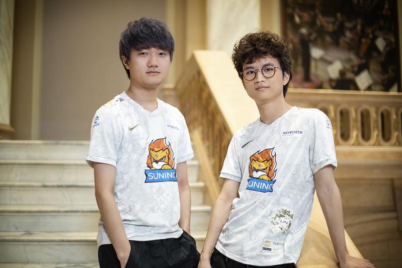 SwordArt e huanfeng, jogadores da Suning, finalista do Mundial de LoL 2020