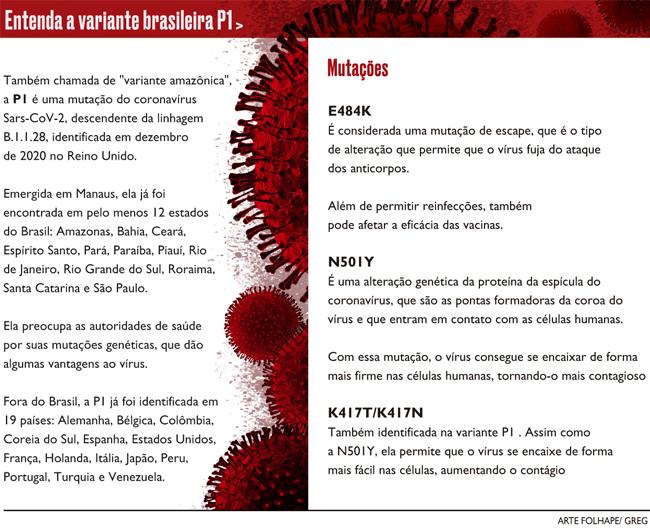Entenda a variante brasileira P1