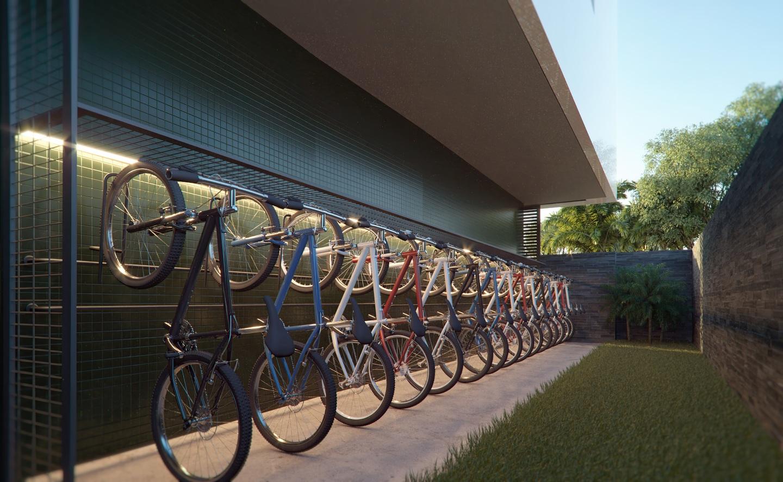 Junto com a expansão do verde dentro dos prédios, equipamentos como os bicicletários são aprovados por moradores