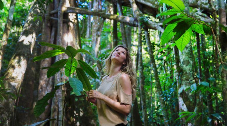 Gisele em prol da regeneração da Amazônia