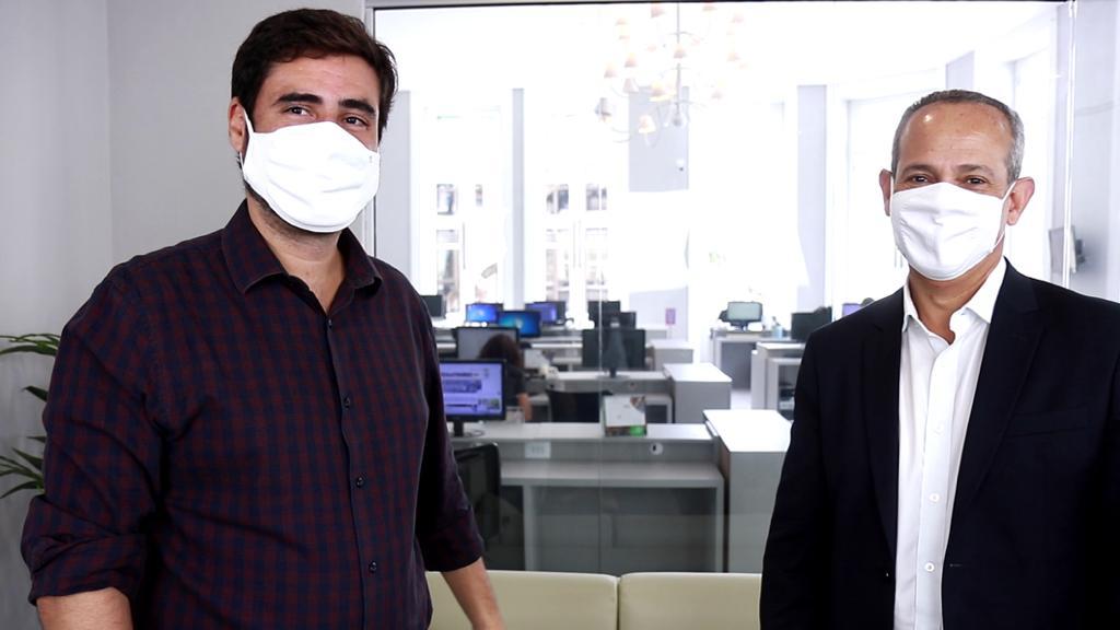 Rogério Morais e o Secretário Fred Amâncio