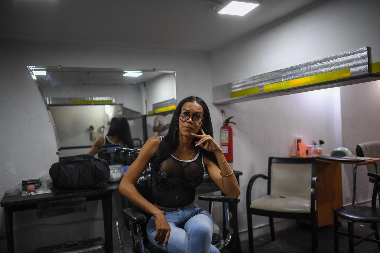 A mulher transexual venezuelana Alexandra, também conhecida como La Galana