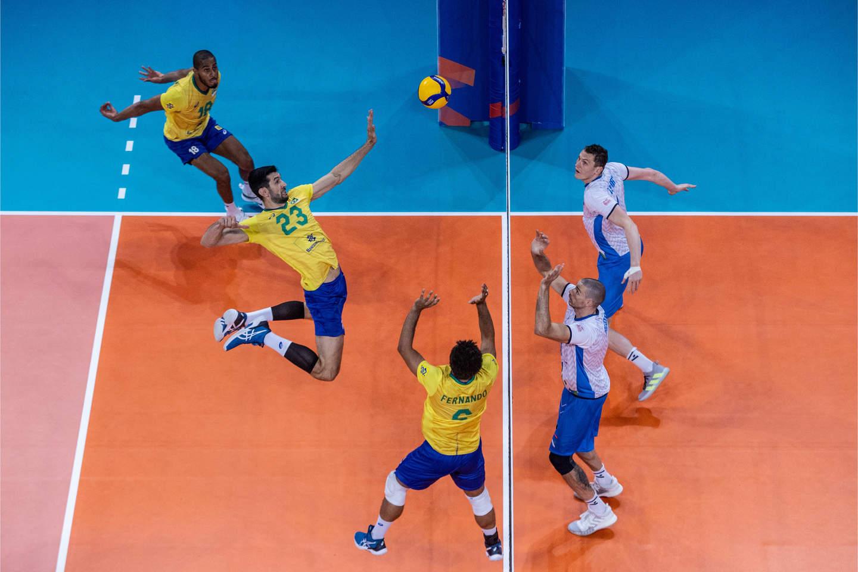 Brasil em ação pela Liga das Nações de Vôlei
