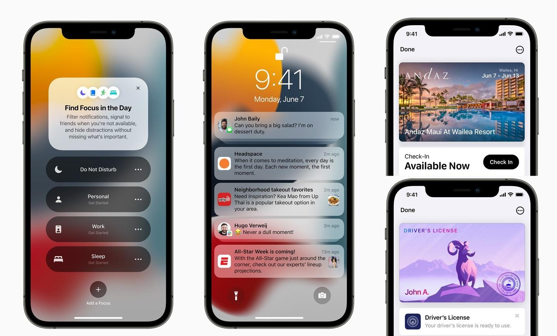 iOS 15 atualizações